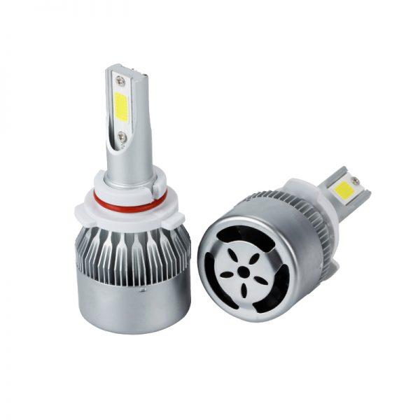 キーン2ピース72ワットc6-ledヘッドライト新世代高電力9006-ledヘッドライト電球7800lm-ip68-h1-h3-h7-h8-h13-h4