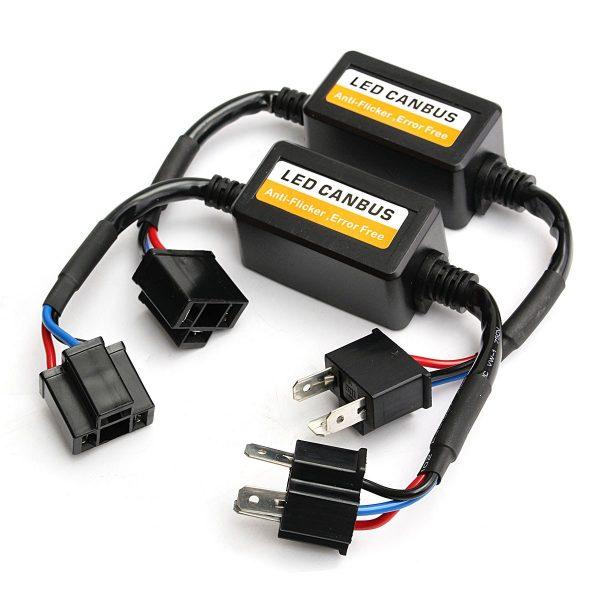 2Pcs-H4-Car-LED-Headlight-Decoder-Canbus-Fog-Bulb-Light-No-Error-Load-Resistor-No-Flickering