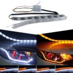 2x-Dual-Color-Car-Flexible-LED-Knight-Rider-Strip-Light-for-Headlight-Sequential-Flasher-DRL-Turn