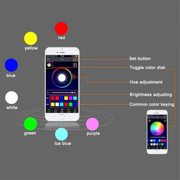 Car-LED-Light-Strips-App-Bluetooth-Control-Interior-Decorative-RGB-Light-Glow-Atmosphere-Lamp-Underdash-Kit