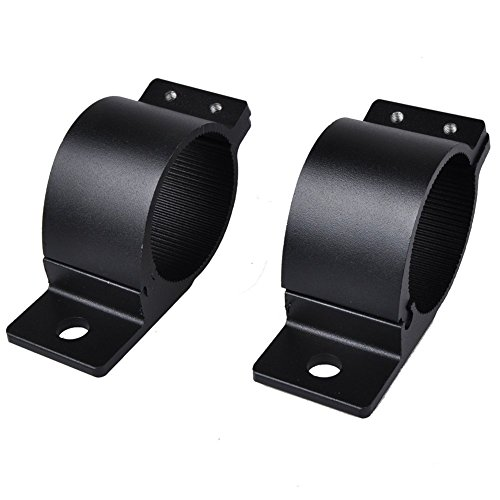 Eternalpower-66mm-71mm-Approx-26-28-A-Pair-Bull-Bar-Nudge-Mounts-Bracket-Clamps-Kit-For-LED-Square-Round-Work-Light-UHF-Antenna-LED-HID-Work-Fog-Light-Pack-of-2Pcs-Black-0-3
