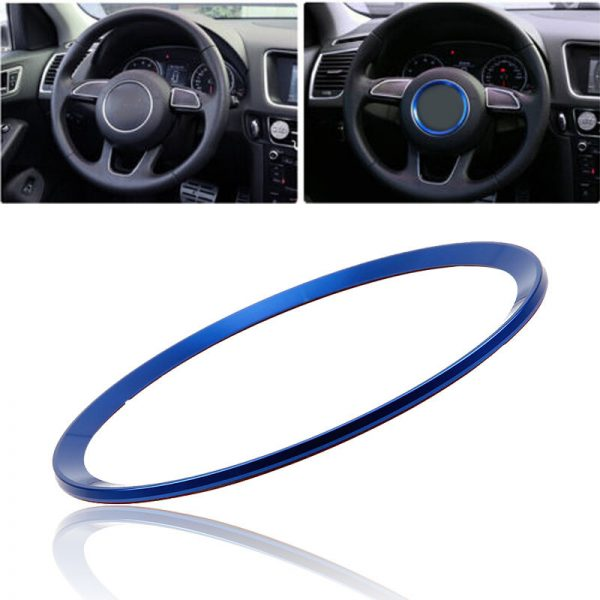POSSBAY-1pcs-For-Audi-Car-Center-Steering-Wheel-Decorative-Decal-Ring-Cover-Trim-3-Color-Red (1)