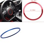 POSSBAY-1pcs-For-Audi-Car-Center-Steering-Wheel-Decorative-Decal-Ring-Cover-Trim-3-Color-Red