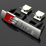 S-Line-Sline-Front-Grille-Emblem-Badge-Chromed-Plastic-ABS-Front-grille-mount-for-Audi-A4