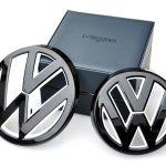 Devil-style-gloss-black-white-front-grill-rear-boot-trunk-badge-emblem-for-VW-volkswagen-golf