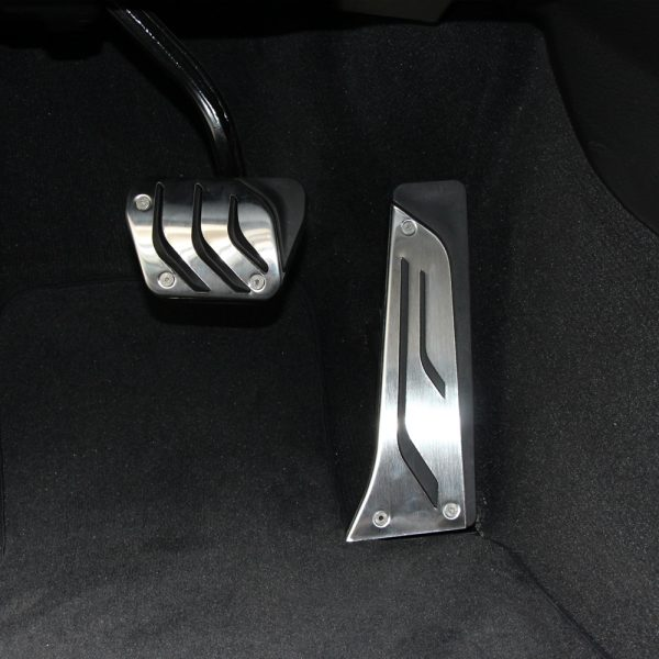 Car-styling-Non-Drillling-Gas-Fuel-Brake-Footrest-Pedal-Plate-Pad-For-BMW-F30-F31-316i